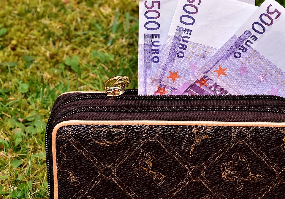eura v peněžence