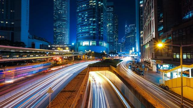 noční Hong Kong
